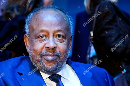 Djibouti's President Ismail Omar Guelleh attends the Paris Peace Forum, in Paris. French President Emmanuel Macron is hosting an international peace forum _ in the notable absence of the United States _ to discuss solutions to ease the world's tensions, including fighting terrorism and climate change