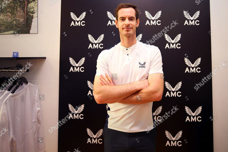 Andy Murray of GBR in the Castore store on the King's Road, London to launch his Andy Murray x Castore brand