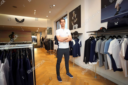 Stock Image of Andy Murray of GBR in the Castore store on the King's Road, London to launch his Andy Murray x Castore brand