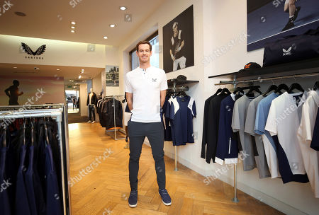 Stock Photo of Andy Murray of GBR in the Castore store on the King's Road, London to launch his Andy Murray x Castore brand