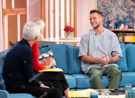 Stock Picture of Phillip Schofield and Holly Willoughby with Chris Hughes