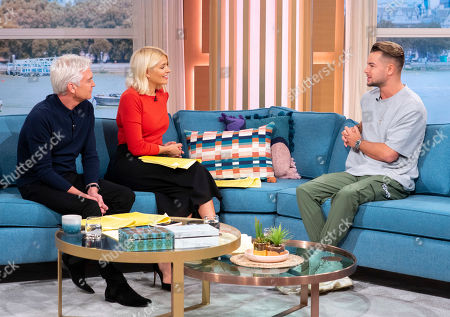 Phillip Schofield and Holly Willoughby with Chris Hughes