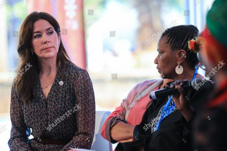 Danish Crown Princess Mary (L), looks on during a side event after the official opening of the Nairobi Summit on International Conference on Population and Development (ICPD25), in Nairobi, ?Kenya, 12 November 2019. The summit takes place from 12 to 14 November.