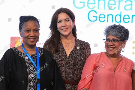 Danish Crown Princess Mary (C) poses for a group photo with other delegates during a side event after the official opening of the Nairobi Summit on International Conference on Population and Development (ICPD25), in Nairobi, ?Kenya, 12 November 2019. The summit will take place from 12 to 14 November.