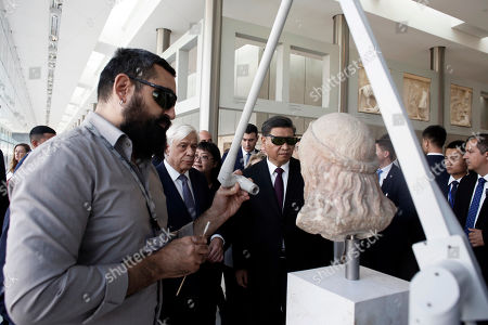 Editorial picture of Chinese President Xi Jinping and Greek President Prokopis Pavlopoulos visit the Acropolis Museum, Athens, Greece - 12 Nov 2019