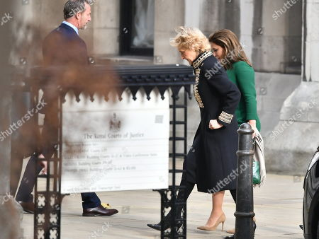 Princess Haya of Jordan is seen arriving at The Family Court devision of the Royal Courts of Justice
