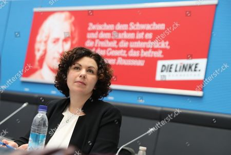 One of the candidates for the leadership of the German The Left (Die Linke) party faction in the German parliament Bundestag Amira Mohamed Ali attends a faction meeting before the vote in Berlin, Germany, 12 November 2019. As Sahra Wagenknecht resigns her position as co-chairwoman of the faction, the party will decides on its future faction leader. Caren Lay and Amira Mohamed Ali are the candidates.