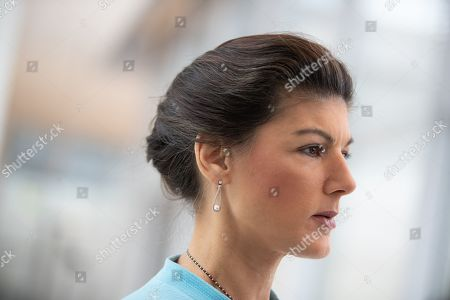 German The Left (Die Linke) party faction co-chairwoman in the German parliament Bundestag Sahra Wagenknecht attends a faction meeting before the vote in Berlin, Germany, 12 November 2019. As Sahra Wagenknecht resigns her position as co-chairwoman of the faction, the party will decides on its future faction leader. Caren Lay and Amira Mohamed Ali are the candidates.