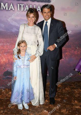 Serena Autieri, Enrico Griselli and their daughter Giulia