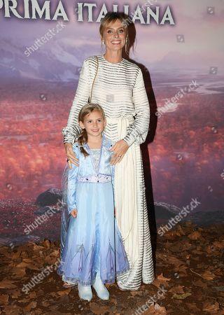 Serena Autieri with her daughter Giulia