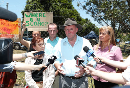 Australian Opposition Leader Anthony Albanese visits the bushfire affected area of Nimbin, New South Wales (NSW), Australia, 12 November 2019. Parts of NSW face catastrophic bushfire danger on 12 November, with residents in bushland areas told to leave early rather than wait for fresh fires to start.