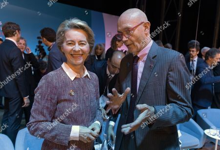 Stock Image of Ursula von der Leyen and Pascal Lamy