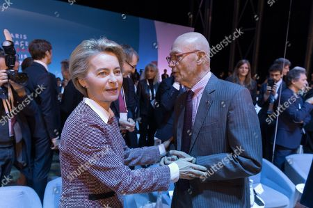 Ursula von der Leyen and Pascal Lamy