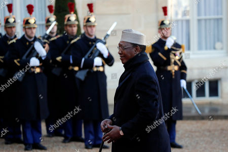 Chad's President Idriss Deby arrives to meet French President Emmanuel Macron at the Elysee Palace, in Paris