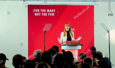 Labour Party MP Angela Rayner attends a Labour Party rally in Blackpool, Britain, 12 November 2019. Britons go to the polls on 12 December in a general election.