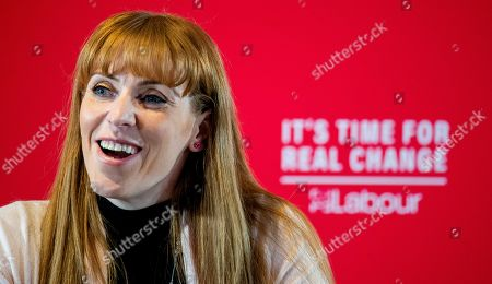 Stock Picture of Labour Party MP Angela Rayner attends a Labour Party rally in Blackpool, Britain, 12 November 2019. Britons go to the polls on 12 December in a general election.