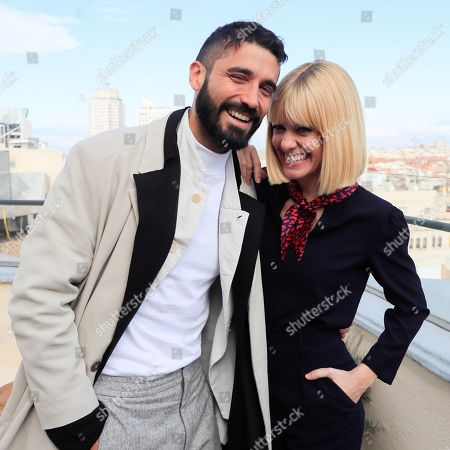 Stock Photo of Spanish cast members Alex Garcia (L) and Alexandra Jimenez (C) pose for the photographers as they present the film 'Si yo fuera rico' (If I Were Rich) in Madrid, Spain, 12 November 2019. The movie opens in Spanish cinemas on next 15 November.