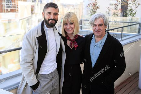 Stock Picture of Spanish cast members Alex Garcia (L) and Alexandra Jimenez (C) and film director Alvaro Fernandez-Armero (R) pose for the photographers as they present the film 'Si yo fuera rico' (If I Were Rich) in Madrid, Spain, 12 November 2019. The movie opens in Spanish cinemas on next 15 November.