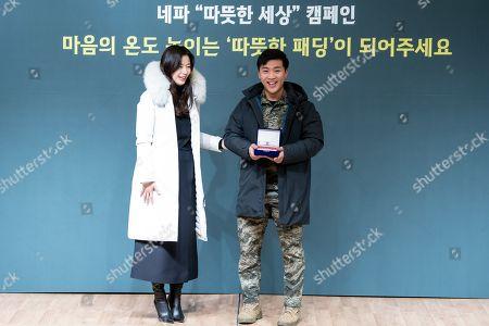 Jun Ji-hyun, a soldier saves a woman in trouble