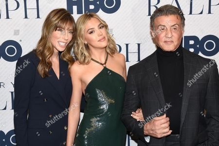 Jennifer Flavin, Sistine Rose Stallone and Sylvester Stallone