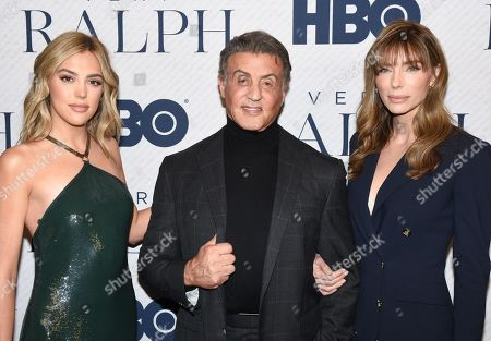 Sistine Rose Stallone, Sylvester Stallone and Jennifer Flavin