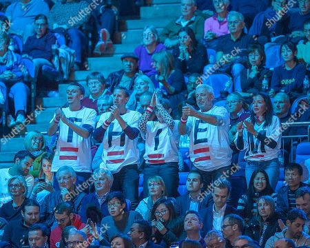 Thiem supporters during the Bjorn Borg group stage match between Novak Djokovic (SRB) (2) and Dominic Thiem (AUT) (5).