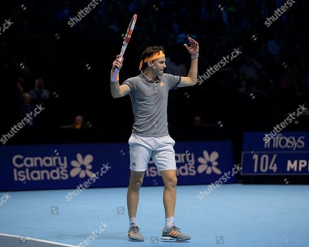 Editorial image of Nitto ATP World Tour Finals, The O2 Arena, Greenwich Peninsula, London, United Kingdom, 12th November 2019