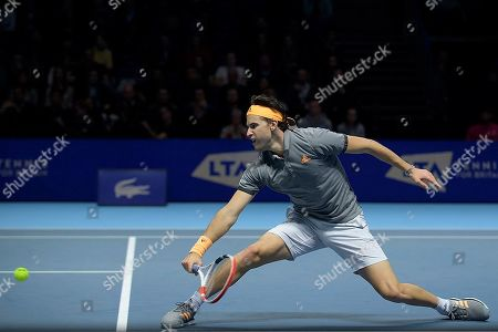 Editorial picture of Nitto ATP World Tour Finals, The O2 Arena, Greenwich Peninsula, London, United Kingdom, 12th November 2019