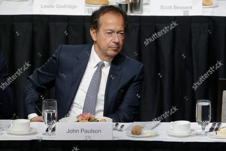 John Paulson attends a meeting of the Economic Club of New York in New York