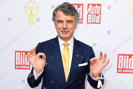 Jaguar Land Rover CEO Ralf Speth attends the awarding ceremony of 'Das Goldene Lenkrad' (lit. the Golden Steering Wheel) in Berlin, Germany, 12 November 2019. For the 43rd time, the weekly 'BILD am SONNTAG' and the European AUTO BILD Group award the Europe's most important car prize - 'The Golden Steering Wheel'.