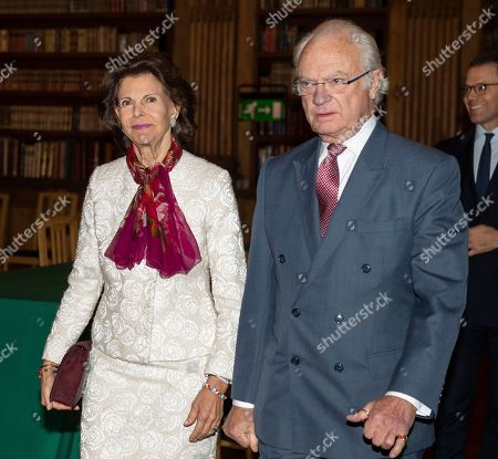 Stock Photo of Queen Silvia and King Carl Gustaf