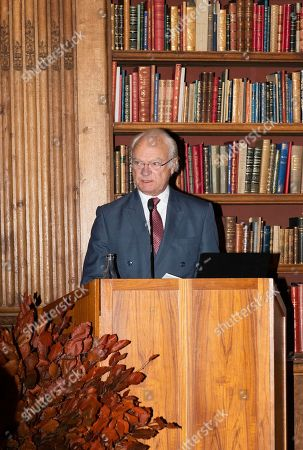 King Carl Gustaf gives an introductory speech