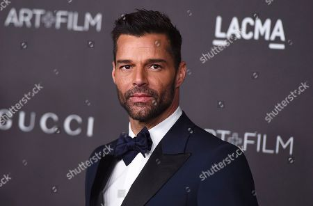 """Ricky Martin at the 2019 LACMA Art and Film Gala in Los Angeles. Martin will perform his latest song """"Cántalo"""" with Residente and Bad Bunny at the Latin Grammy Awards on Thursday, Nov., 14, and will also serve as master of ceremonies along actresses Roselyn Sánchez and Paz Vega"""