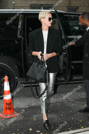 Editorial picture of Charlize Theron out and about, New York, USA - 12 Nov 2019