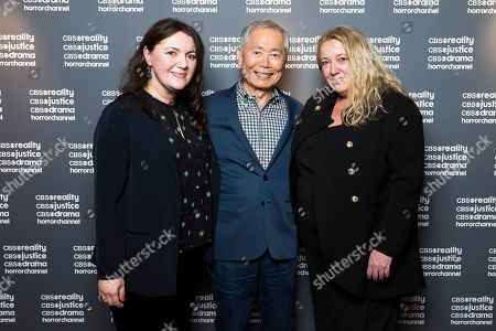 Left to right: Alina Florea, AMC Networks International Director of Acquisitions and Content Partnerships / George Takei / Michelle Payne, CBS Studios International SVP, Client Relations
