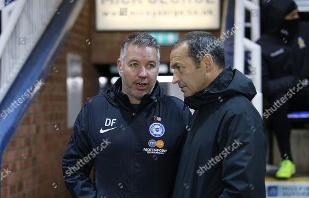 Peterborough United Manager Darren Ferguson with Cambridge United manager Colin Calderwood before kick-off