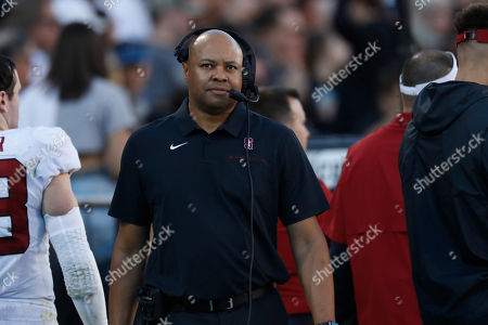 R m. Stanford Cardinal head coach David Shaw in the second half of an NCAA college football game, in Boulder, Colo. Colorado won 16-13