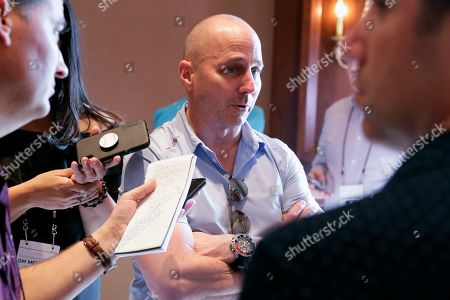 New York Yankees general manager Brian Cashman speaks during a media availability during the Major League Baseball general managers annual meetings, in Scottsdale, Ariz