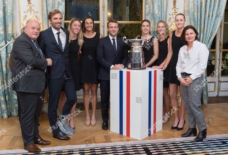 Editorial photo of French Womens tennis team reception at Elysee Palace, Paris, France - 12 Nov 2019
