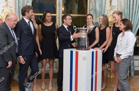 Editorial image of French Womens tennis team reception at Elysee Palace, Paris, France - 12 Nov 2019