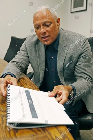 Mississippi Democrat Mike Espy explains, at his Jackson, Miss., office, how he is using data to help him pursue votes in a run for the U.S. Senate against Republican incumbent Cindy Hyde-Smith, setting up a 2020 rematch of their 2018 special election to fill the last two years of retired Republican Sen. Thad Cochran's six-year term