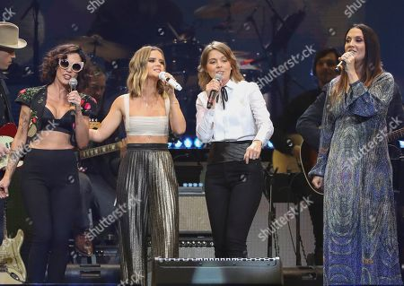 Amanda Shires, Maren Morris, Natalie Hemby, Brandi Carlile, The Highwomen. From left, Amanda Shires, Maren Morris, Brandi Carlile, and Natalie Hemby of The Highwomen performing at Loretta Lynn's 87th Birthday Tribute in Nashville, Tenn. Morris will kick off the CMA Awards on Wednesday with her supergroup The Highwomen