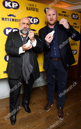 Stock Picture of John Hartson and Omid Djalili