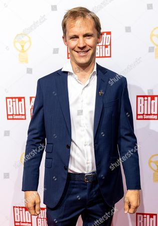 Stock Image of Mattias Ekstroem attends the Golden Steering Wheel award