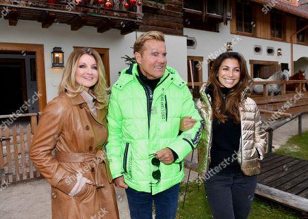 Frauke Ludowig, Dieter Bohlen and his partner Fatma Carina Walz