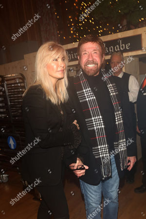 Stock Picture of Chuck Norris and wife Gena O'Kelley