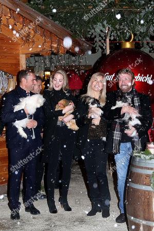 Stock Image of Dieter Ehrengruber, Kathrin Glock, Chuck Norris and wife Gena O'Kelley