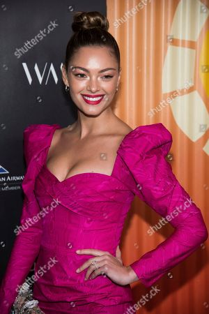 Stock Photo of Demi-Leigh Nel-Peters attends The Charlize Theron Africa Outreach Project fundraiser at The Africa Center, in New York