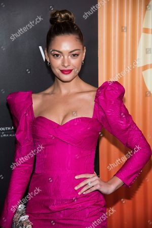 Demi-Leigh Nel-Peters attends The Charlize Theron Africa Outreach Project fundraiser at The Africa Center, in New York