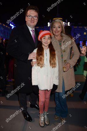 Ewan Venters, Anouska Veroni and Tamara Beckwith